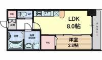 愛知県名古屋市西区那古野1丁目の賃貸マンションの間取り