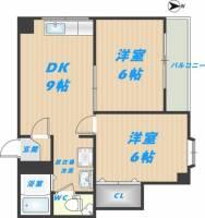 日栄ビル3号館[8階]の間取り