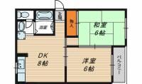 グレースハイツ京橋[4階]の間取り