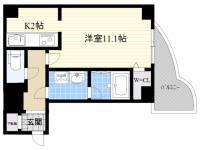 カノン大須[4階]の間取り