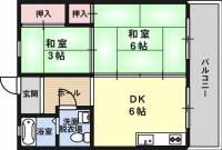 西淀マンション[4階]の間取り
