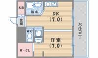 ピュアハウス甲子園[5階]の間取り