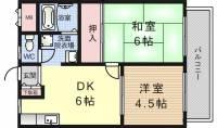 ロイヤルユタカ[203号室]の間取り