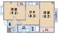 南昭和町タムラビル[3階]の間取り
