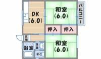 株元ハイツ[1階]の間取り