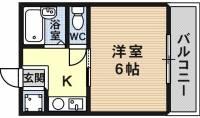 ハイツ京屋[2階]の間取り