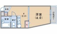 兵庫県西宮市今津久寿川町の賃貸マンションの間取り