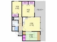 おおきに花川サニーアパートメント[105号室]の間取り