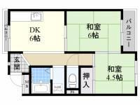 マンション TAKA[3階]の間取り