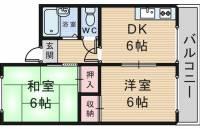 セントラルコート南桜塚[2階]の間取り