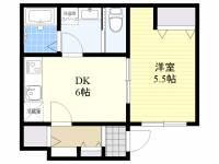 東京都目黒区中目黒3丁目の賃貸アパートの間取り
