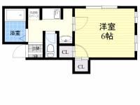 松村ハイツ[2階]の間取り