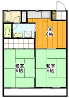 静岡県浜松市中区小豆餅1丁目の賃貸アパートの間取り