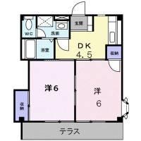 福岡県大野城市緑ケ丘3丁目の賃貸アパートの間取り