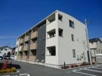 山梨県甲斐市富竹新田の賃貸アパートの外観