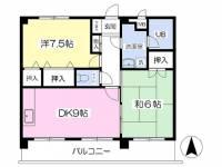 松山南マンション[403号室]の間取り