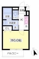 サンジコート姫路駅南[203号室]の間取り