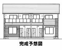 岡山県岡山市南区迫川の賃貸アパートの外観