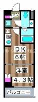 仮称)熊野町マンション[6階]の間取り