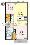 (仮称)D-room広芝町[2階]の間取り