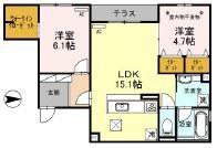 (仮称)D-room広芝町[1階]の間取り