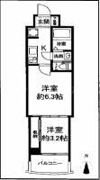 セレニテ梅田ルフレ[5階]の間取り