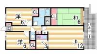 ボヌール鈴蘭台[3階]の間取り