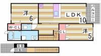 サンハイツ北六甲弐番館[1階]の間取り