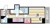 KAISEI神戸海岸通[6階]の間取り