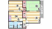 ハイカムール伊川[2階]の間取り