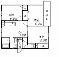 兵庫県神戸市西区池上5丁目の賃貸アパートの間取り