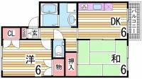 兵庫県明石市大蔵谷奥の賃貸アパートの間取り