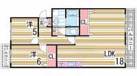 マッティーナ神戸壱番館[A4号室]の間取り