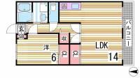 プランドールMITANI A棟[1階]の間取り