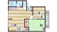 サンビレッジ竹内D棟[2階]の間取り
