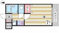 シャトラン弓木壱番館[2階]の間取り