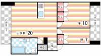ニュー神戸マンション[2階]の間取り