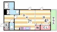 サンフィールド[1階]の間取り