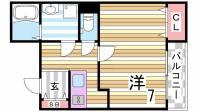 レジデンス赤坂[201号室]の間取り