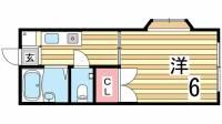 サンコート板宿[1階]の間取り