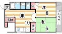 四国ビルマンション[403号室]の間取り