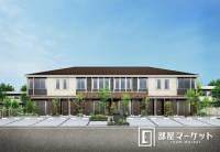 愛知県豊田市花園町屋敷の賃貸アパートの外観