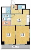 ハニーハイツ渡辺Ⅱ[3階]の間取り