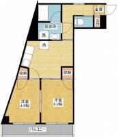 ハニーハイツ渡辺Ⅱ[10階]の間取り