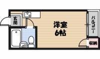 野江ハイツ[2階]の間取り