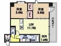 WOB京橋[11階]の間取り