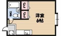 フレンズ京橋[301号室]の間取り