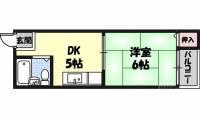 プレアール野江[304号室]の間取り