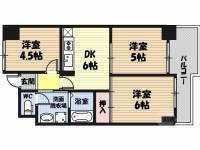 松屋レジデンス関目[4階]の間取り
