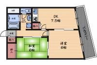 阪神ハイグレードマンション3番館[9階]の間取り